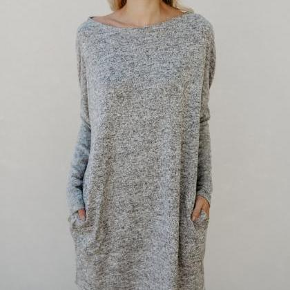 Round Neck Casual Long Sleeved Shor..