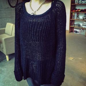 Loose round neck knit sweater #BF10..