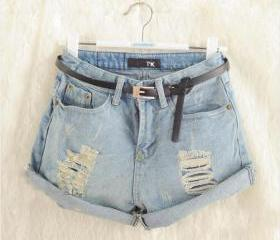 LIGHT FRAYED DENIM S..