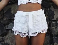 Fashion lace shorts ..