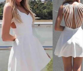 fashion White halter..