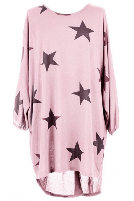 Loose Pentagram Print Dress